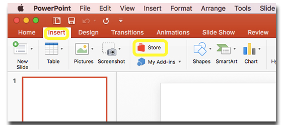 Embedding a youtube video in office slik from the insert tab select store ccuart Images